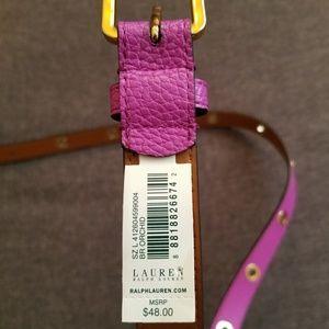 Lauren by Ralph Lauren magenta belt